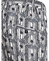 Christophe Lemaire - White 17.5cm Printed Cotton Canvas Pants for Men - Lyst