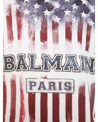Balmain - Multicolor Printed Cotton T-shirt for Men - Lyst