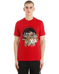 Y-3 - Red Slim Fit Cobra Printed Jersey T-shirt for Men - Lyst