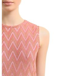 M Missoni - Pink Zigzag Lurex Jersey Jumpsuit - Lyst