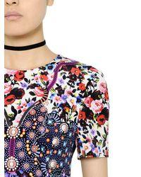 Mary Katrantzou - Multicolor Floral Printed Silk Crepe Dress - Lyst