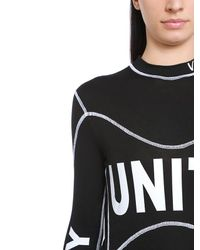 Versace - Black Unity Printed Stretch Jersey T-shirt - Lyst