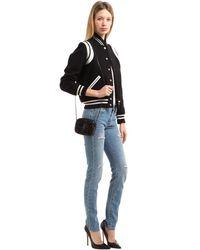 Saint Laurent - Black Blogger Monogram Sequin Bag - Lyst