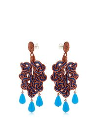 Anna E Alex - Multicolor Passamaneria Rosa Lamè Earrings - Lyst