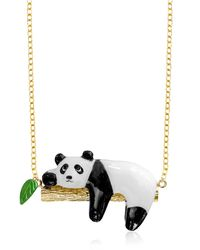 Nach - Multicolor Panda On A Branch Necklace - Lyst