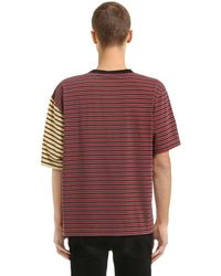Marni - Multicolor Oversized Striped Cotton Jersey T-shirt for Men - Lyst