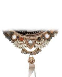 Deepa Gurnani - Metallic Bina Necklace - Lyst
