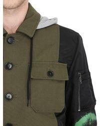 Moschino | Black Techno Gabardine & Satin Field Jacket for Men | Lyst