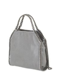 Stella McCartney | Gray Mini 3chain Shaggy Faux Deer Bag | Lyst