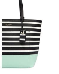 Kate Spade - Black Small Riley Vinyl Tote Bag - Lyst