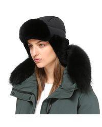Mackage - Mezlan Unisex Light Weight Down Aviateur Hat - Black - O/s for Men - Lyst
