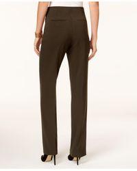 Style & Co. - Black Petite Straight-leg Tummy-control Pants - Lyst