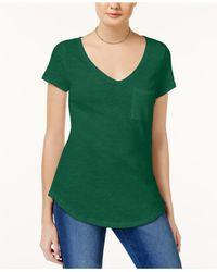 Maison Jules - Green Short-sleeve V-neck Tee - Lyst