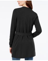 INC International Concepts - Black Petite Grommet Completer Sweater, Created For Macy's - Lyst