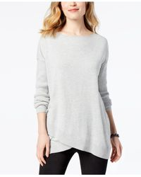 Style & Co. - Gray Asymmetrical Sweater, Created For Macy's - Lyst