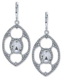Anne Klein - Metallic Crystal Openwork Orbital Drop Earrings - Lyst