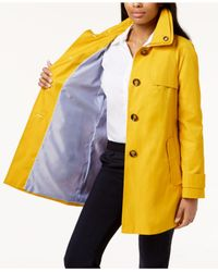 London Fog - Yellow Plus Size A-line Raincoat - Lyst