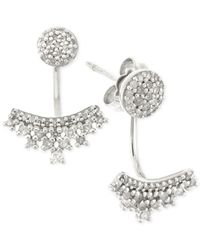 Wrapped in Love - Metallic Diamond Ear Jackets (1/4 Ct. T.w.) In 10k White Gold - Lyst