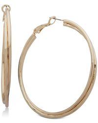 Nine West - Metallic Double-row Twist Hoop Earrings - Lyst