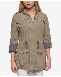 Levi's - Gray Roll-tab-sleeve Utility Jacket - Lyst