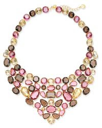 Charter Club | Metallic Gold-tone Multi-stone Statement Necklace | Lyst