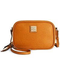 Dooney & Bourke - Brown Saffiano Sawyer Crossbody - Lyst
