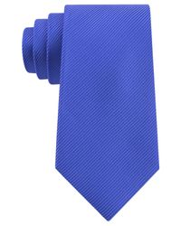 Geoffrey Beene - Blue Bias Stripe Solid Tie for Men - Lyst