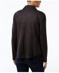 Style & Co. | Black Petite Moto Jacket | Lyst