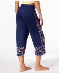 Hue - Blue ® Printed Capri Pajama Pants - Lyst