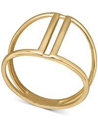 Macy's - Metallic Openwork Ring In 14k Gold - Lyst