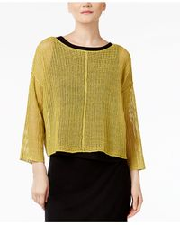 Eileen Fisher | Multicolor Linen Boxy Top | Lyst