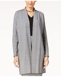 Alfani - Gray Shawl-collar Sweater Coat - Lyst