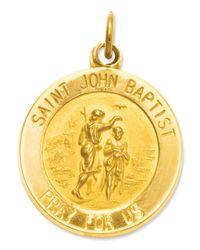 Macy's - Metallic 14k Gold Charm, Saint John Baptist Medal Charm - Lyst