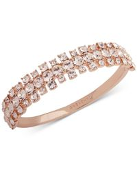 Givenchy - Pink Rose Gold-tone Crystal Bangle Bracelet - Lyst