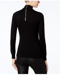 Michael Kors - Black Cotton Choker Sweater, A Macy's Exclusive Style - Lyst