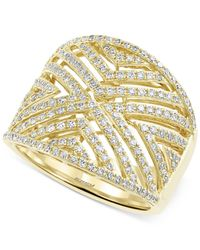 Effy Collection - Metallic D'oro By Effy Diamond Geometric Ring (3/4 Ct. T.w.) In 14k Gold - Lyst
