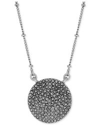 Lucky Brand | Metallic Necklace, Silver-tone Pave Crystal Necklace | Lyst