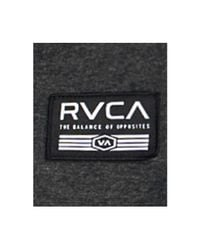 RVCA - Black Men's Heathered Logo Hoodie for Men - Lyst
