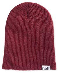 Neff | Red Men's Beanie Hat for Men | Lyst