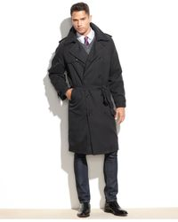 London Fog | Black Iconic Belted Trench Raincoat for Men | Lyst