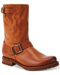 Frye   Brown Women's Veronica Short Boots   Lyst