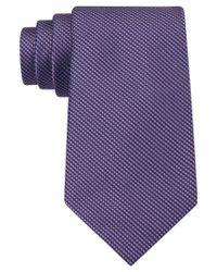 Calvin Klein | Purple Classic Fit Silk Birdseye Tie for Men | Lyst