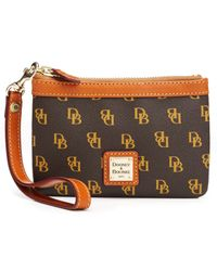 Dooney & Bourke | Brown Gretta Medium Signature Wristlet | Lyst