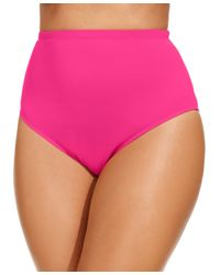 La Blanca | Pink Plus Size High-waist Swim Brief Bottom | Lyst