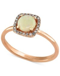 Effy Collection - White Gemma By Effy Opal (3/4 Ct. T.w.) And Diamond Accent Ring In 14k Rose Gold - Lyst