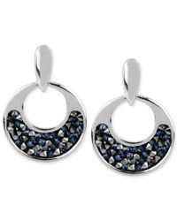 Kenneth Cole | Multicolor Silver-tone Faceted Bead Round Drop Earrings | Lyst