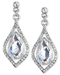2028 | Metallic Silver-tone Crystal Caged Pear-shape Drop Earrings, A Macy's Exclusive Style | Lyst