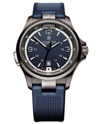 Victorinox | Multicolor Men's Night Vision Blue Rubber Strap Watch 42mm 249069 for Men | Lyst