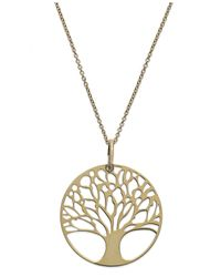"Giani Bernini | Metallic 18"" 24k Gold Over Sterling Silver Or Sterling Silver Tree Of Life Pendant Necklace 