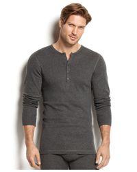 2xist   Gray 2(x)ist Men's Essential Range Long-sleeve Henley for Men   Lyst